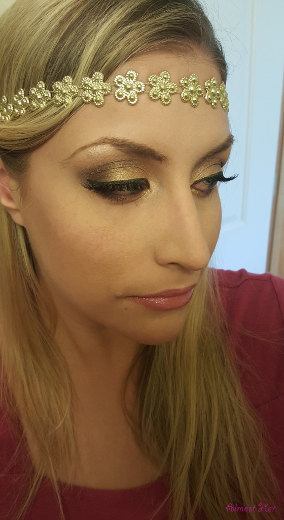 Gold Summer Festival Eyeshadow Look!! Check out Almost Her Blog!