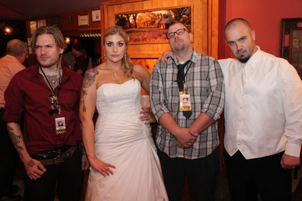 Almost Her Blog. What do you do with the bride's guy best friends at a wedding? Wedding bouncers!!