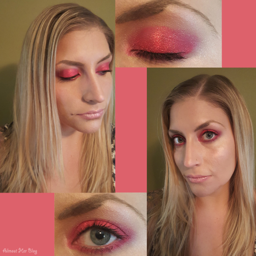 ColourPop look with eyeshadow