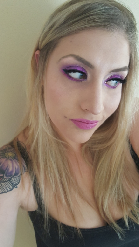 ColourPop Eyeshadow Look by Almost Her Blog! Kellie Pink Look #colourpop #pinkeyeshadow #kelliepink