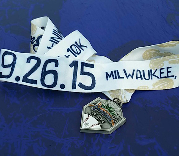 Brewers 10k Medal! almostherblog.com