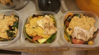 Roasted Veggies with Romesco Sauce and Chicken