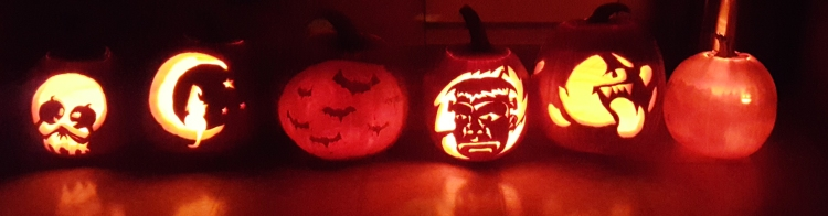 My family's finished pumpkins for Halloween! almostherblog.com