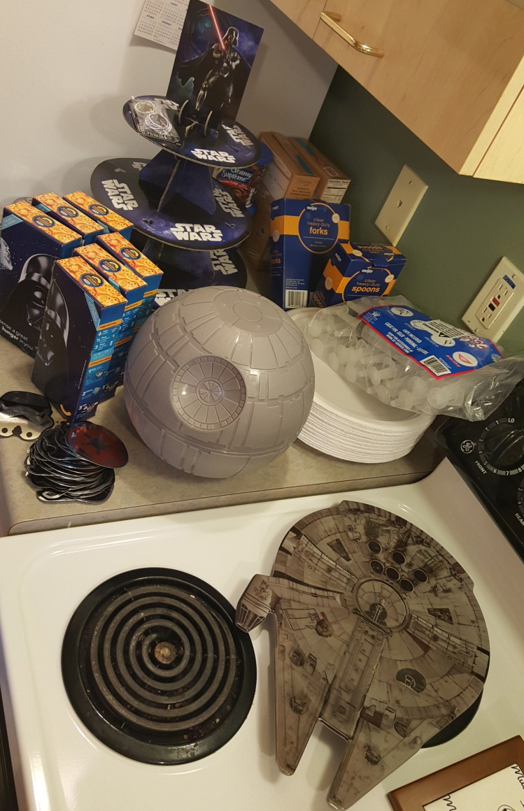 All the ingredients to start off our Star Wars Party extravaganza!!