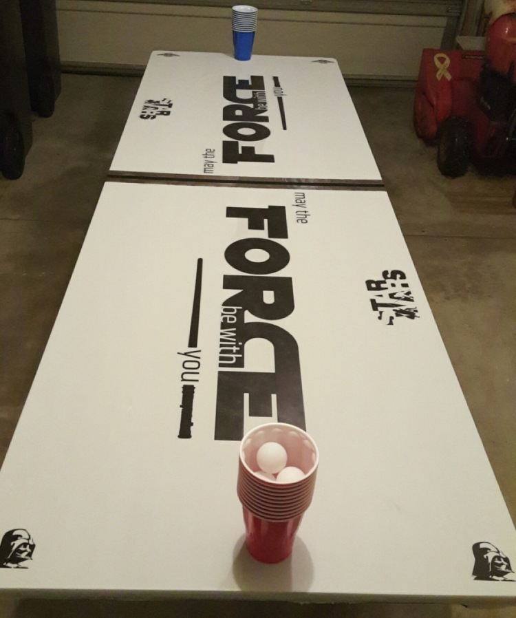 Star Wars Beer Pong Table! Ultimate Star Wars party game #StarWars #beerpong #starwarsparty