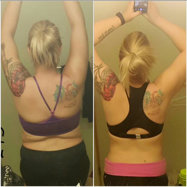 5 month progress photo #progress #motivation #fitness www.almostherblog.com
