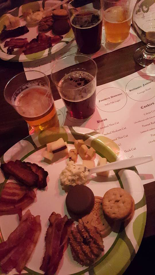 Bacon, Girl Scout cookie, and cheese pairings with beer.