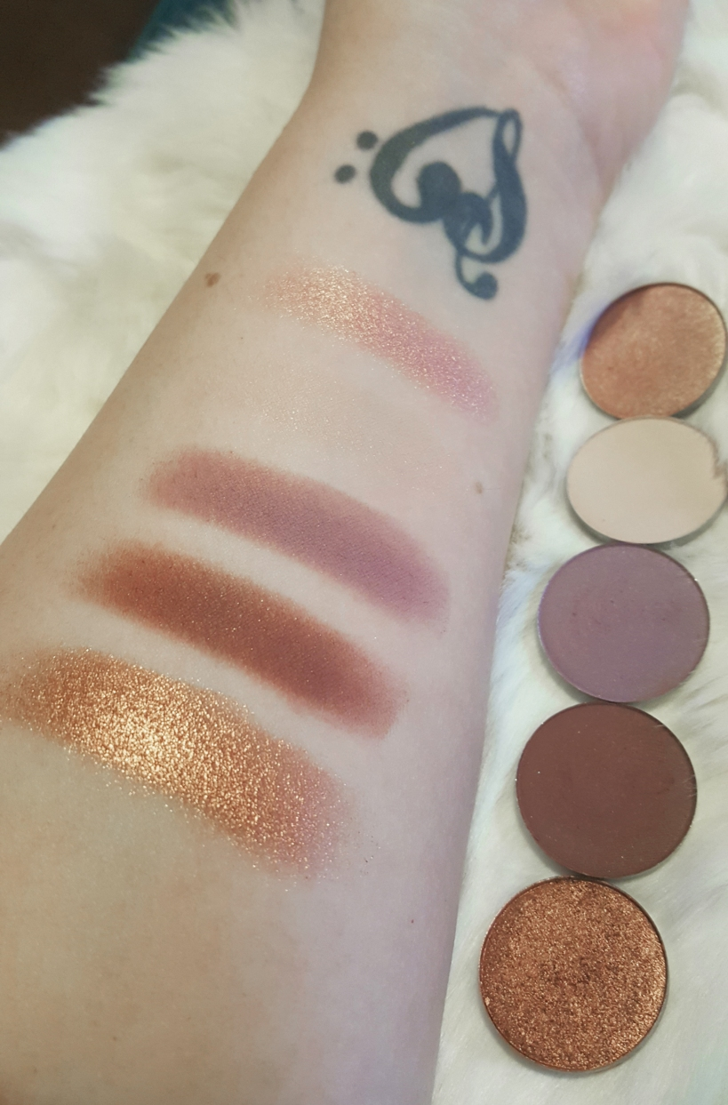 ColourPop Pressed Shadow swatches at Almost Her Blog! #colourpopswatches #colourpopressedpowders